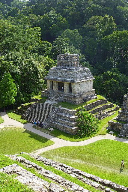 Palenque is truly one of the wonders of the world. Immersed in dense jungle high up in the hills. Palanque, Chiapas.