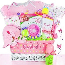 16 best personalized baby gifts images on pinterest baby gift personalized garden friends baby gift basket negle Images