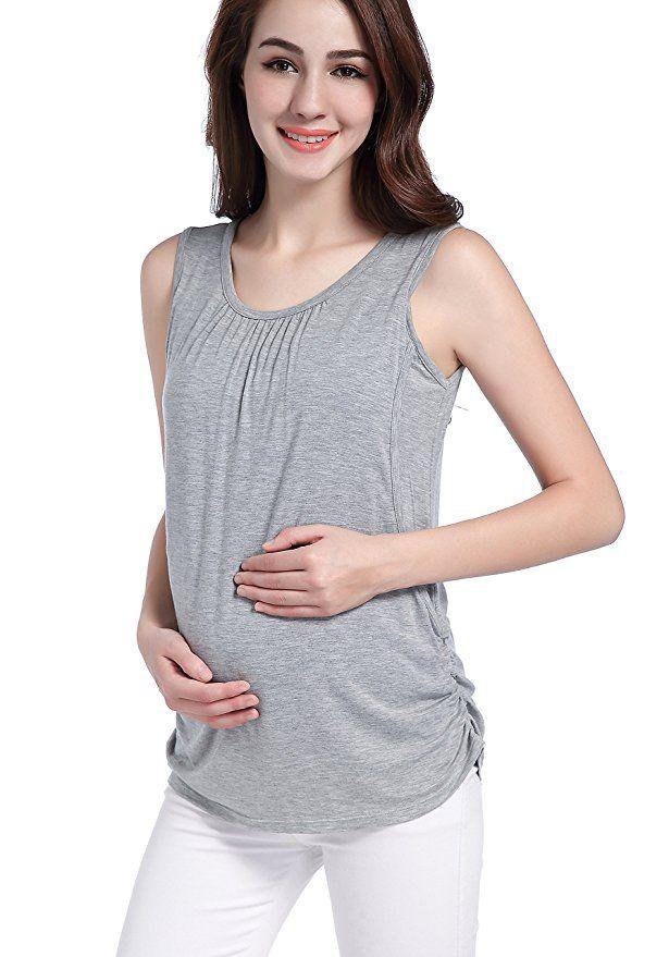 2c0a3f63b SUIEK Maternity Nursing Shirt Breastfeeding Tank Tops Cami Summer Clothes  at Amazon Women's Clothing store: