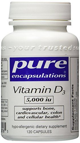 Pure Encapsulations - Vitamin D3 5000 IU 120 Capsules- 2 Pack *** To view further for this item, visit the image link.