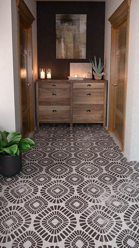 Avenue Wall Stencil Large Geometric Wall Stencils Stenciled Tile Floor Stenciled Floor Painted Floors