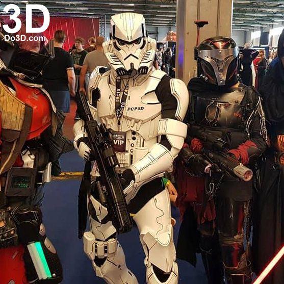 3D Printable Model: Variant Star Wars Stormtrooper Full Body Armor Suit | Print File Format: STL – Do3D.com