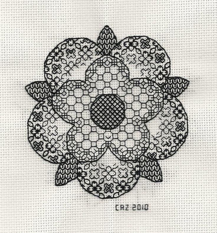 blackwork | Blackwork Tudor Rose by ~gatchacaz on deviantART