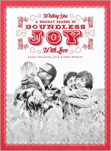 Boundless Joy 6x8 Stationery Card by pottsdesign