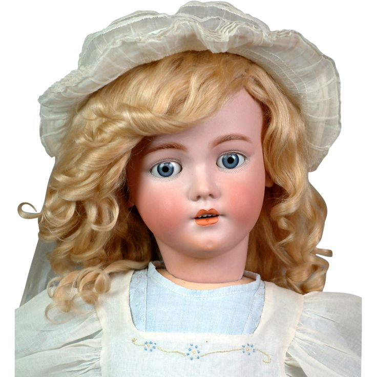 Gorgeous 31in  SIMON & HALBIG 1249 SANTA Antique Doll in Great Condition with Fabulous antique Long-Tail mohair WIG!