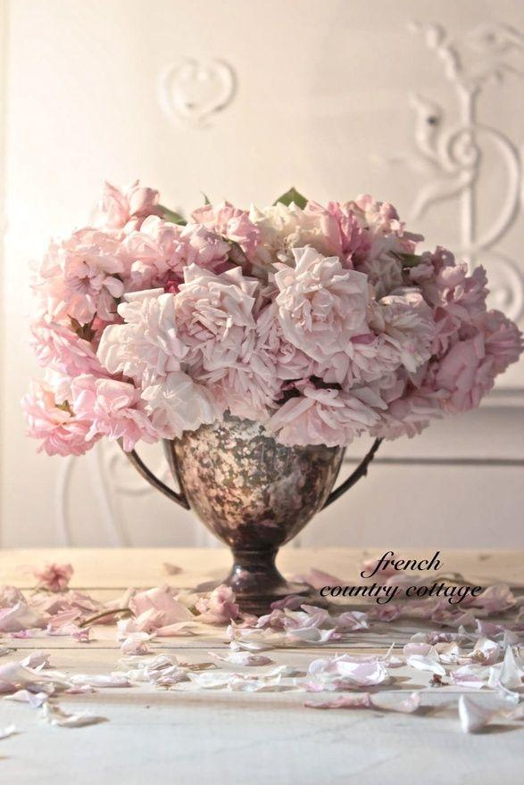 Arranjo de flores rosa