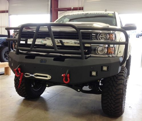 Hammerhead Bumpers - Hammerhead 600-56-0277 Winch Bumper with Full Grille Guard and Sensor Holes Chevy Silverado 2500HD/3500 2015-2016