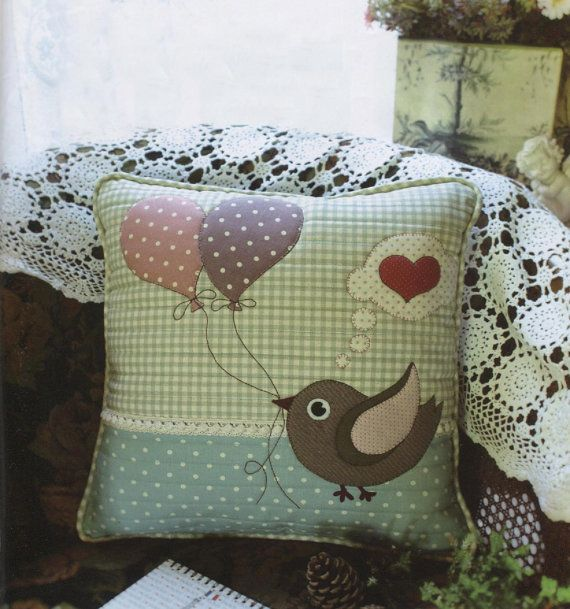 PDF Pattern of Lovely Bird pillow case cover by Patternsinlove, $5.00