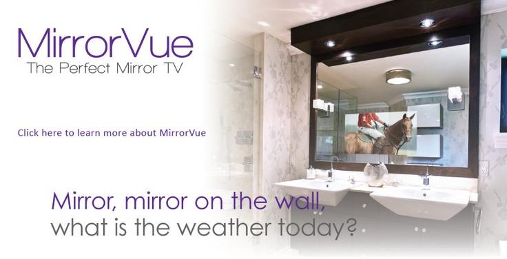Television Behind Bathroom Mirror