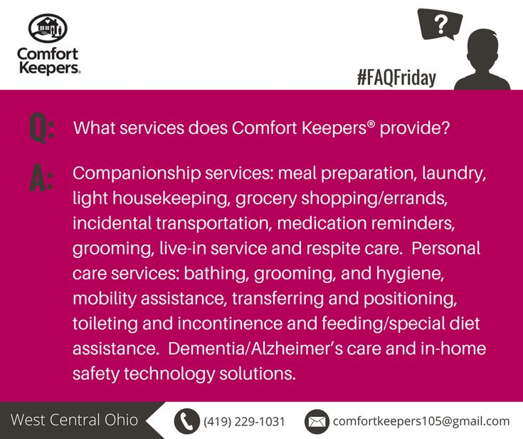 Frequently asked questions about Comfort Keepers