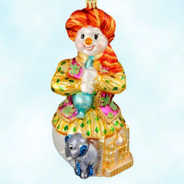 Christopher Radko Ornaments Sultan Snowman India Around The World Christmas 2004