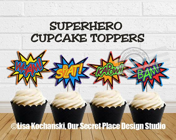 INSTANT+DOWNLOAD+Superhero+Party+Decorations+by+OurSecretPlace