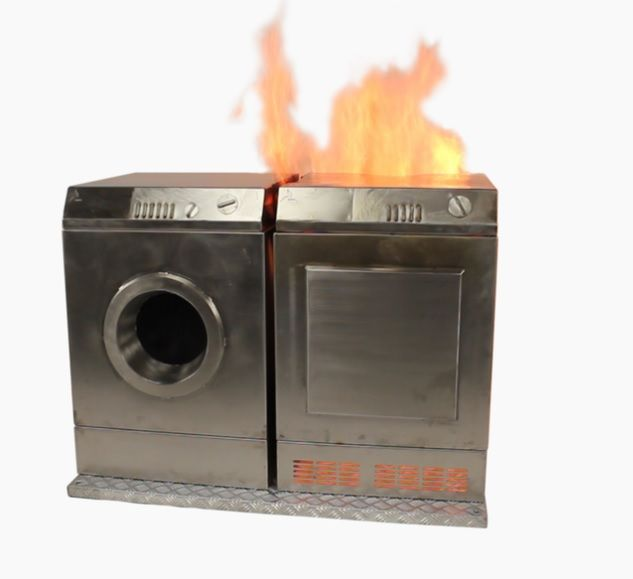 Lavadora secadora accesorio para Vesta   Representa una combinación de fuego Acero inoxidable de calidad superior   Fuego en una lavadora y secadora La Combinación de Lavado y Secado representa un incendio en una lavandería. El Vesta se puede ocultar completamente en la unidad de la secadora y por lo tanto no será visible.  PRECIO SIN IVA: 3445€  #lavadora #Vesta #maxpreven