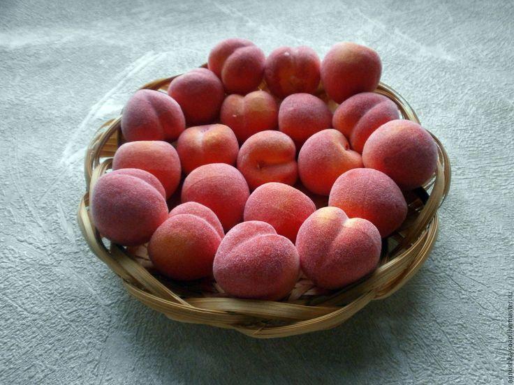 Купить Персик, 35 мм, топиарий, декор, пенопласт, 10 шт. - фрукты, искусственные фрукты