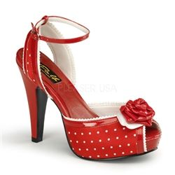 $59 Valentines Day Gift for Pin Up Girls! Red Pin Up Shoes!