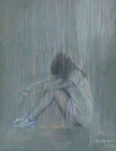 Some times I sit in the rain so when I cry no one   Notices