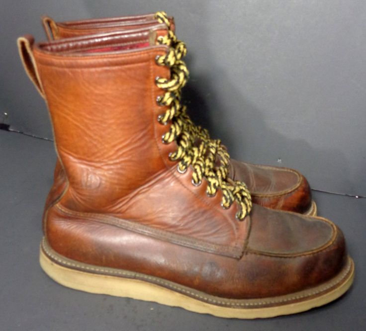 RED WING IRISH SETTER SPORT BROWN LEATHER BOOTS MEN'S SIZE 12.5 E Price: $179.99 #Motorcycle #Workboots #Laceupboots #boots  #fashion At Eagle Ages we love Lace Up boots. You can find a great choice of second hands & vintage Work & Lace Up Boots in our store. At https://eagleages.com/shoes/boots/men-boots/igor.html