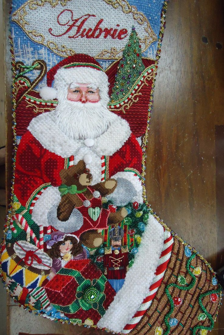 123 Best Needlepoint Christmas Stockings Images On