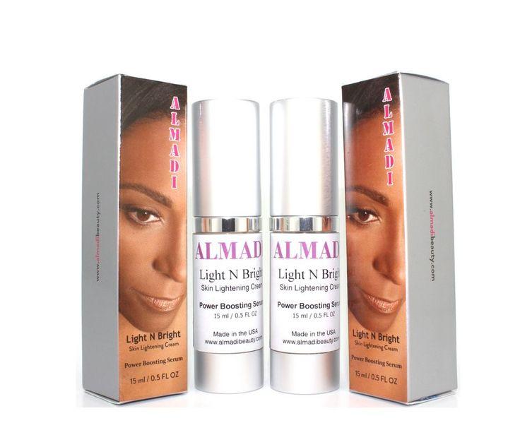 Almadi Light N Bright Skin Lightening Cream - Power Boosting Serum 2 Pack Bundle Super Duper Deal