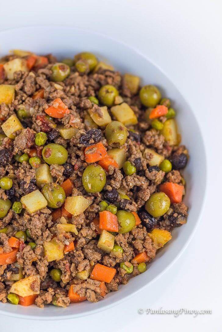 Picadillo Recipe Panlasang Pinoy Picadillo Recipe Beef Recipes Recipes
