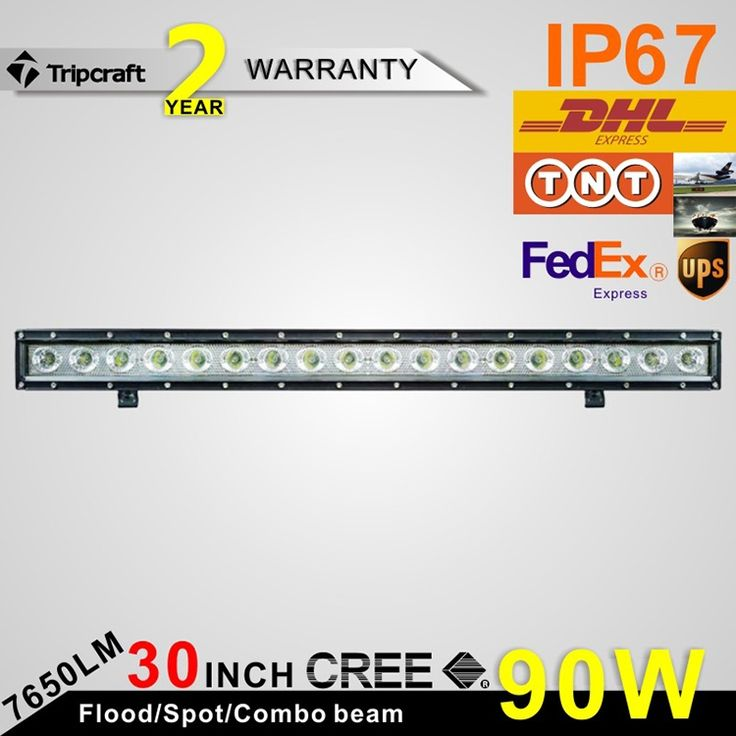 120.56$  Watch now - 30 inch 90W Single Row Slim LED Light Bar For Trucks Tractor Boat SUV ATV 4WD Trailer Spot Flood Driving Light 12V 24V  #buymethat