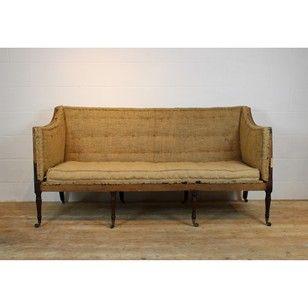 George III mahogany sofa - Decorative Collective