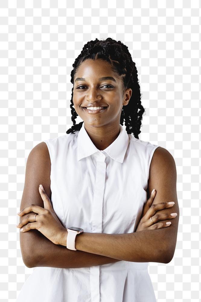 Portrait Of A Cheerful Black Woman Transparent Png Premium Image By Rawpixel Com Mckinsey Business Portrait Portrait Woman Standing