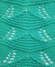 Lace Knit Stitch #‎Knitting‬  http://knitchart.com/category/lace-knit-stitch-patterns.html