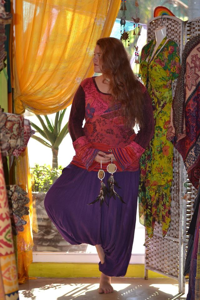 Amber from Taspa Experience sporting Himalayan Handmades. #hippiestyle #hippie #freespirit Hippie clothing, funky hippie shop, Salt Rock, South Africa