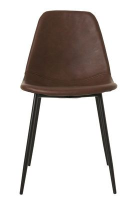 Forms Padded chair - / Imitation leather & steel by House Doctor