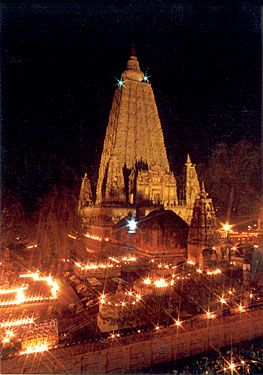BodhGaya, India.  The place where Buddha achieved enlightenment.