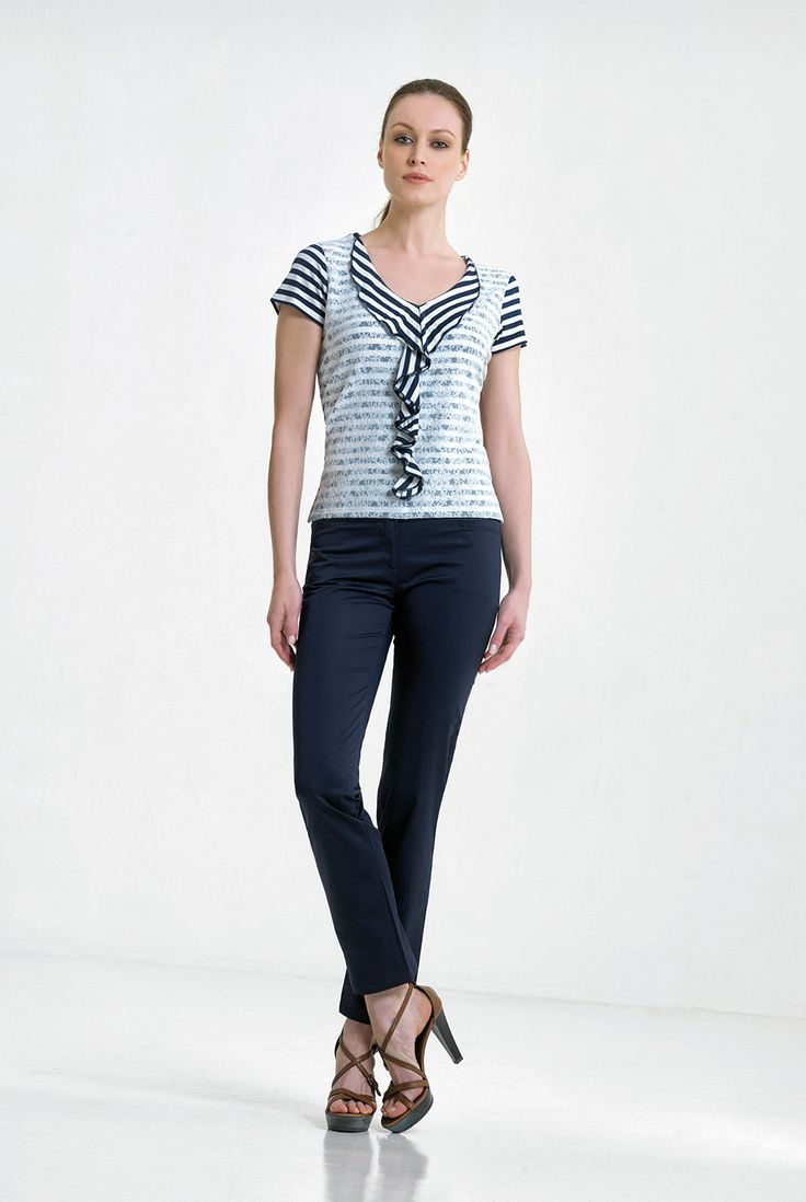 stripes and overlay lace