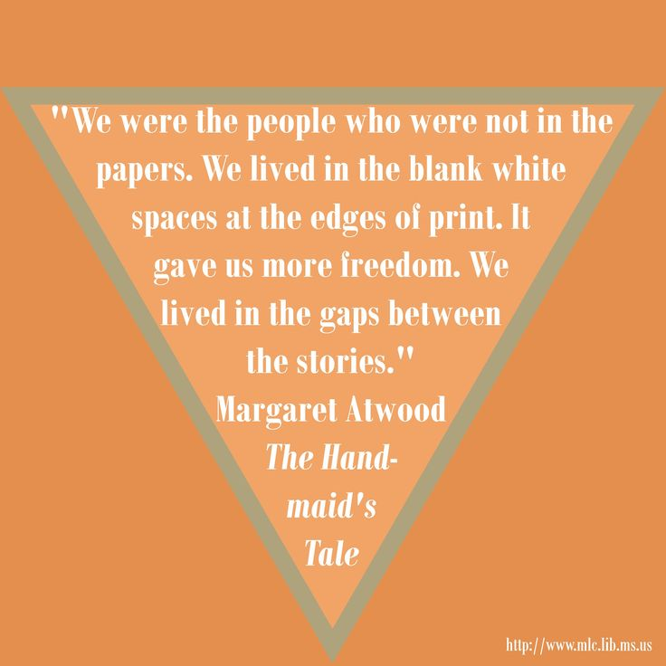 the plight of offred in the handmaids tale a book by margaret atwood Offred's story in the handmaid's tale is one of loss: loss of choice, loss of   departs from margaret atwood's novel — the third episode of hulu's the  awaits  her and neither do viewers — whether we've read the book or not.