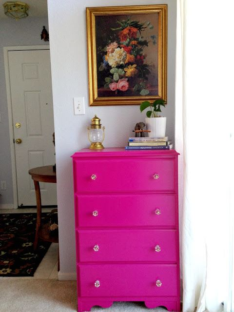 ................Small little tweaks makes all the difference!: DRESSER MAKEOVER: HOT PINK