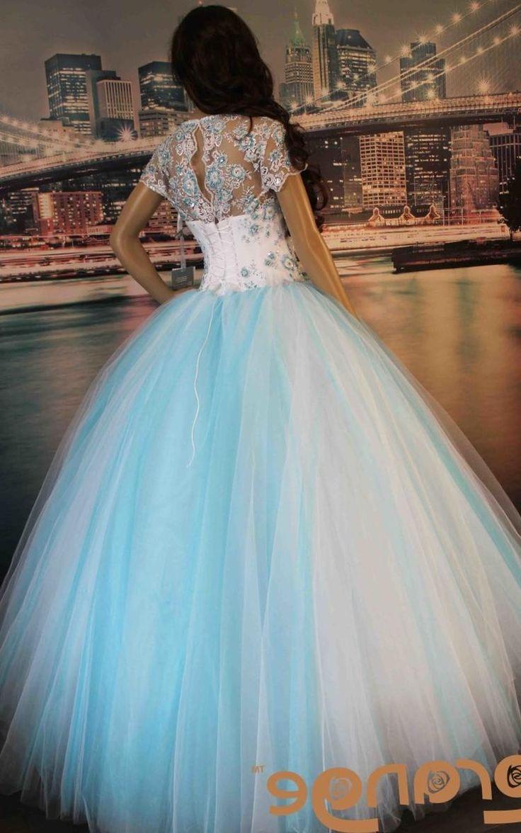 Свадебное платье бело голубое…
