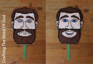 This craft will help visualize the conversion of Paul for your kids. Make sure you explain both sides of the mask when you tell your kids the story. Instructions Print the template on card stock. (…