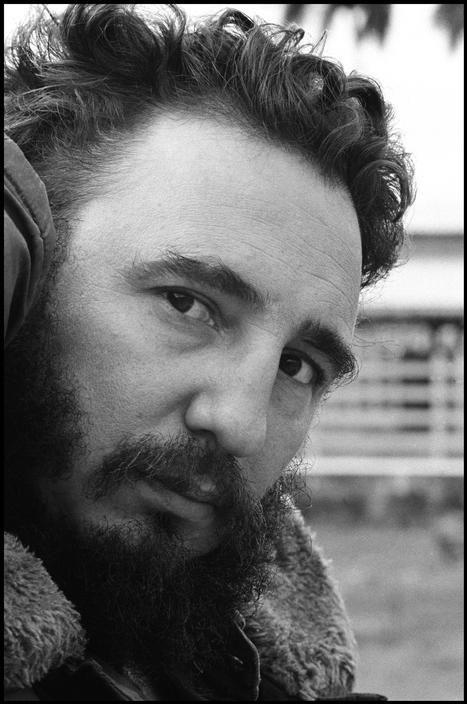 CUBA. 1964. Close up of Fidel CASTRO semi profile.