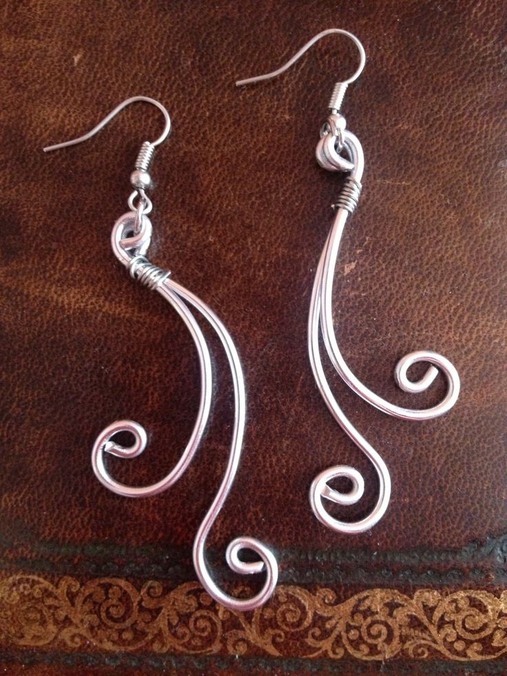 handmade earrings , wire