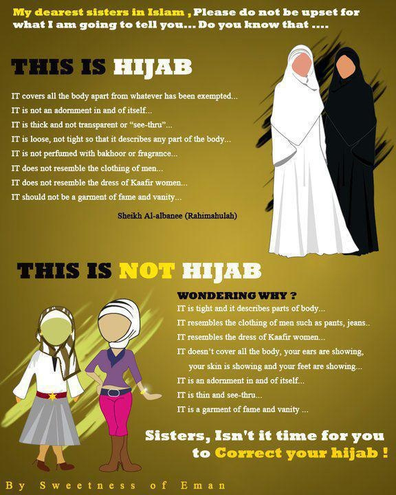 I agree, some muslim girls need to understand this and get it right (if your wearing the hijab)