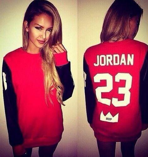 Item Type: Hoodies,Sweatshirts Gender: Women Clothing Length: Regular Hoodie : No Collar: O-Neck Sleeve Length: Full Pattern Type: Air Jordan , Sweat Suit Sleeve Style: Printed 23 (2 on Left Sleeve) (