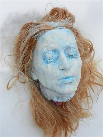 FEMALE FROZEN SEVERED HEAD Halloween Props | Halloween Props