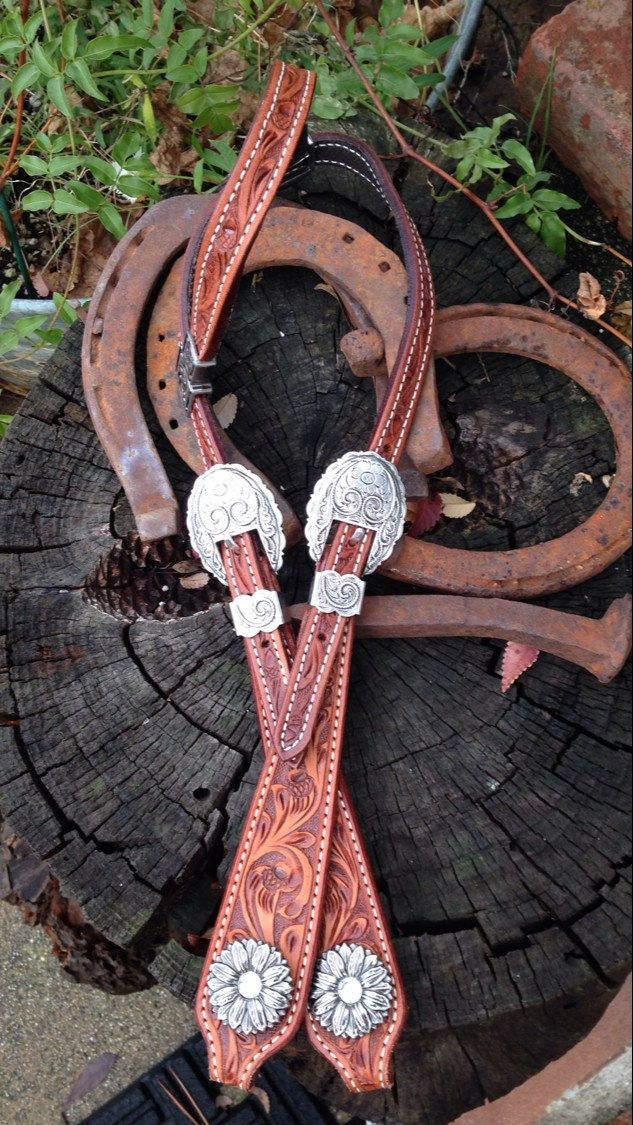 Custom Designed Quality Leather Single Ear Headstall by diamondbjewelry on Etsy