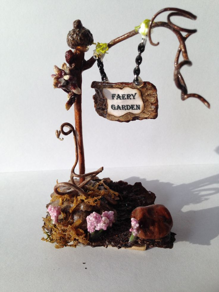 My Faery Sign For My Miniature Garden