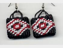 An interesting way to use Taniko patterns... In earrings!!