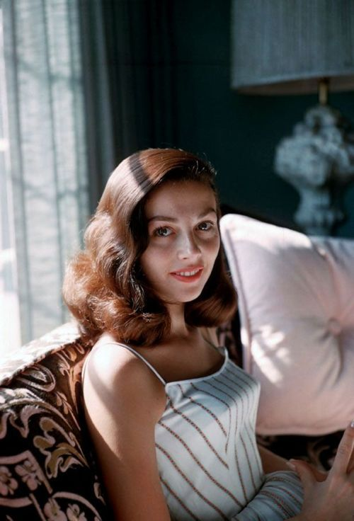 Pier Angeli photographed by Richard C. Miller, 1956.