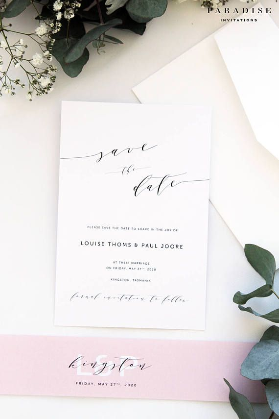 Juliana Blush Save the Date Cards Printable Save the Date