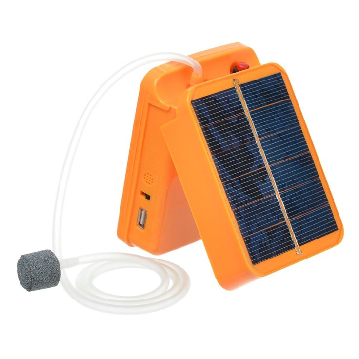 Portable Air Pump Oxygenator for Aquarium Fish Tank Foldable EVA Fishing Life Bait Bucket w/ Solar Power Air Pump Sea Fishing