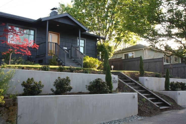 Small Concrete Retaining Wall | Concrete Retaining Walls - Superwonderful Garden Design