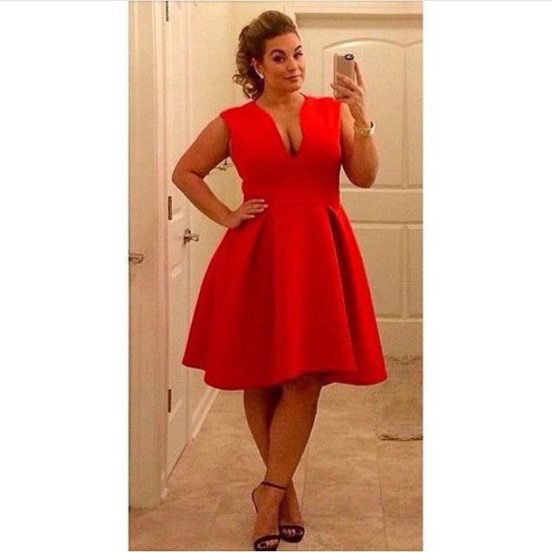 dress plus size curvy asos curve red dress red prom dress formal dress formal retro