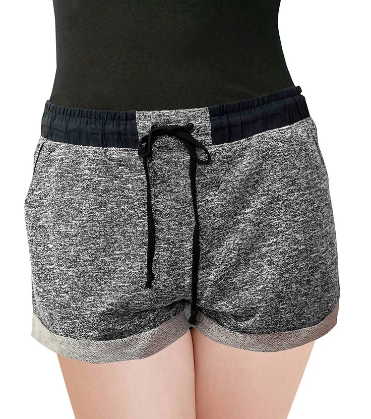 PLUSPICE Women's French Terry Shorts W Drawstring Elastic band BK 2X Made by #PLUSPICE Color #F8fs-black. It could be a must have item easy to wear at home and outdoor activity for all year round.Made with the soft french terry fabric that have just the right amount of stretch to ensure the most comfortable fit. Pair it with cami tank or casual shirt. It goes with almost any outfit.